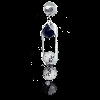 Experimental Pieces Custom Stones Earring Snowflake