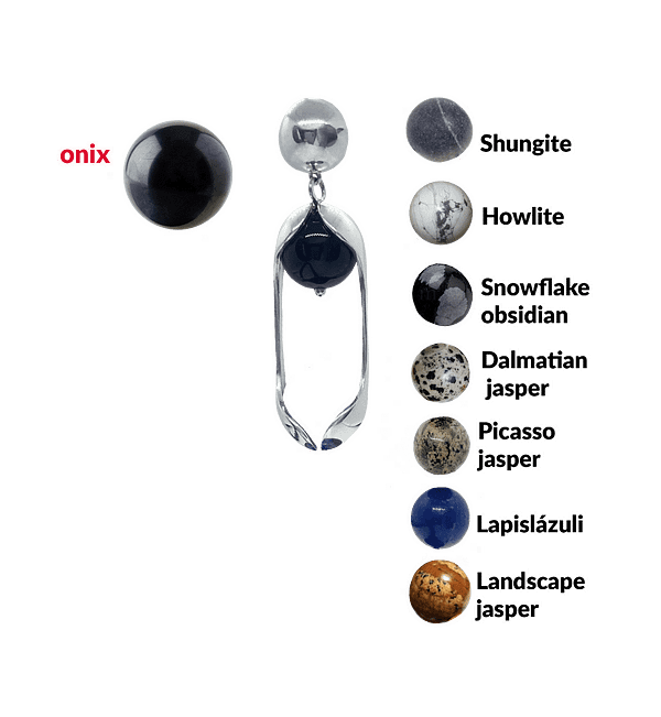 Experimental Pieces Custom Stones Earrings