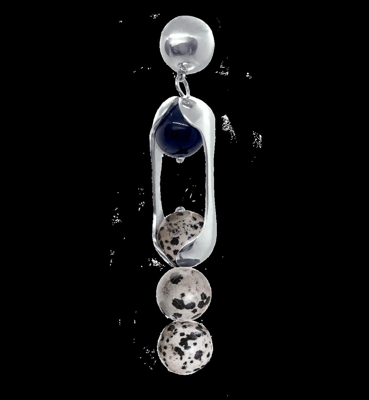 Experimental Pieces Custom Stones Earring Dalmata